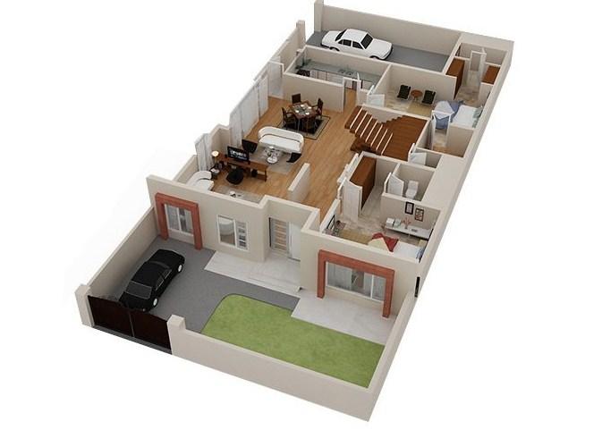 Denah Ruangan Rumah Sederhana