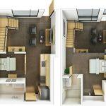 Denah Rumah 2 Lantai 3d
