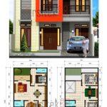 Denah Rumah 2 Lantai Minimalis dan Tampak Depan