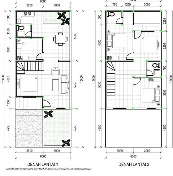 Denah Rumah 2 Lantai Terbaru 2019
