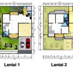 Denah Rumah 2 Lantai Type 45