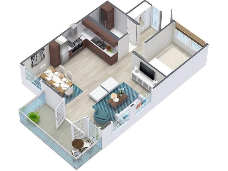 19 Denah Rumah 3d Minimalis Modern Terbaru 2020