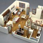 Denah Rumah Minimalis 2 Kamar 2019