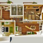 Denah Rumah Minimalis 2 Kamar Tidur