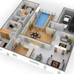 Denah Rumah Minimalis 2 Kamar Tidur 2 Lantai