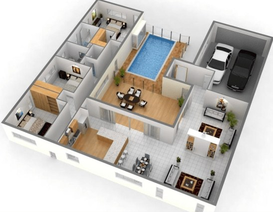 21 Denah Rumah Minimalis 2 Kamar 1 2 Lantai 2020