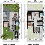 Denah Rumah Minimalis 2 Lantai Modern