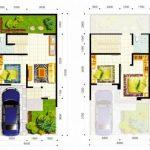 Denah Rumah Minimalis 2 Lantai Sederhana