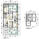 Denah Rumah Minimalis 2 Lantai Ukuran 6x9