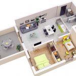 Denah Rumah Minimalis 3 Dimensi