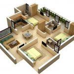 Denah Rumah Minimalis 3 Kamar 3d Terbaru 2019