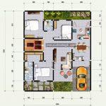 Denah Rumah Minimalis 3 Kamar Dan Garasi