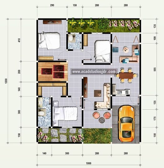 Kumpulan Foto Desain Rumah Cantik 3 Kamar Yang Bisa Anda Contoh Download