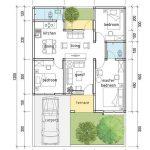 Denah Rumah Minimalis 3 Kamar Lantai 1