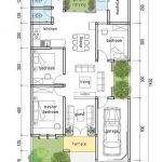 Denah Rumah Minimalis 3 Kamar Modern