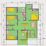 Denah Rumah Minimalis 3 Kamar Tidur Sederhana