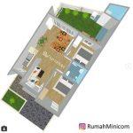 Denah Rumah Minimalis Modern 3 Dimensi
