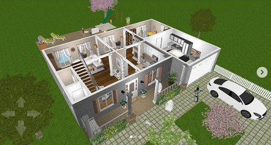 35 Denah Rumah Minimalis 3 Kamar Tidur Desain Minimalis