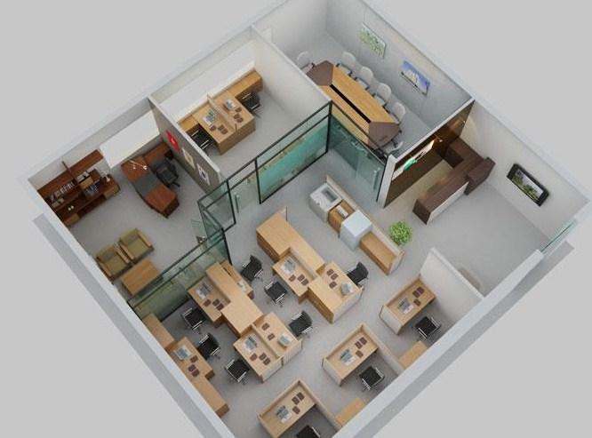 Denah Rumah Minimalis Modern 3d