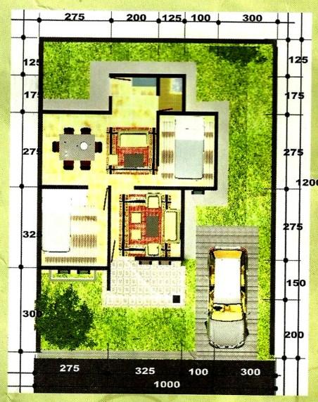 Denah Rumah Minimalis Type 45 2019