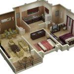 Denah Rumah Minimalis Type 45 3D