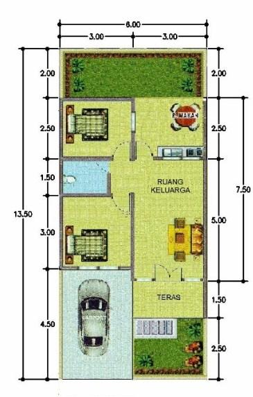 35 Gambar Denah Rumah Minimalis Type 45 Terbaru 2019 Rumahpedia