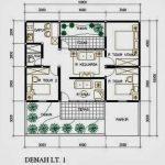 Denah Rumah Minimalis Type 45 Lantai 1