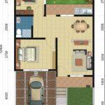 Denah Rumah Minimalis Type 60 1 Lantai