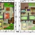Denah Rumah Minimalis Type 60 2 Lantai