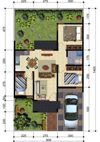 63 Gambar Denah Rumah Hook Type 70 2 Lantai Terbaik