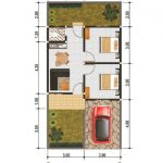 Denah Rumah Modern Minimalis 1 Lantai