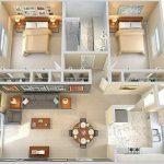 Denah Rumah Modern Minimalis 2 Kamar