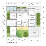 Denah Rumah Modern Minimalis 3 Kamar