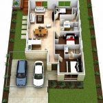 Denah Rumah Modern Minimalis 3d