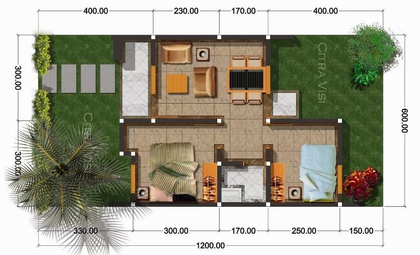 Denah Rumah Sederhana 2019