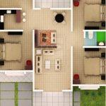 Denah Rumah Sederhana Lengkap