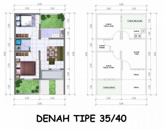 88 Gambar Rumah Sederhana Lengkap Dengan Denah Terbaru