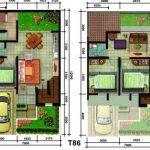 Denah Rumah Type 60 2 Lantai