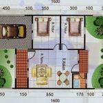 Denah Rumah Type 60 Lantai 1