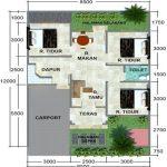 Denah Rumah Type 60 Minimalis