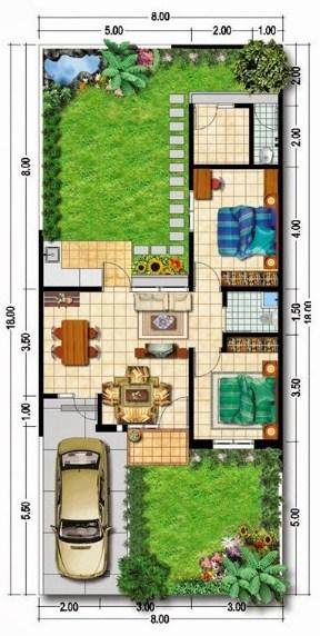 Denah Rumah Type 60