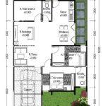 Denah Rumah Type 70 1 Lantai 3 Kamar