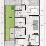 Denah Rumah Type 70 Sederhana