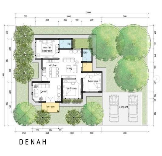 Desain Denah Rumah Modern Minimalis