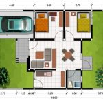 Desain Denah Rumah Type 45