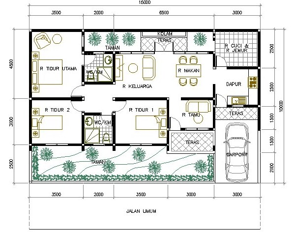 Foto Sketsa Rumah Sederhana