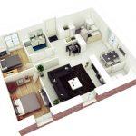 Gambar Denah 3d Rumah Minimalis