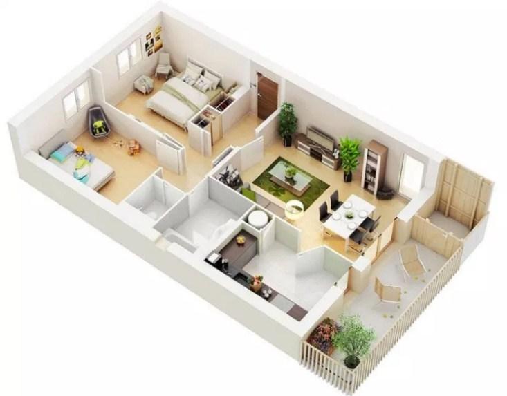 22 Gambar Denah Rumah Minimalis Modern Terbaru 2019