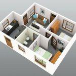 Gambar Denah Rumah 3d Minimalis