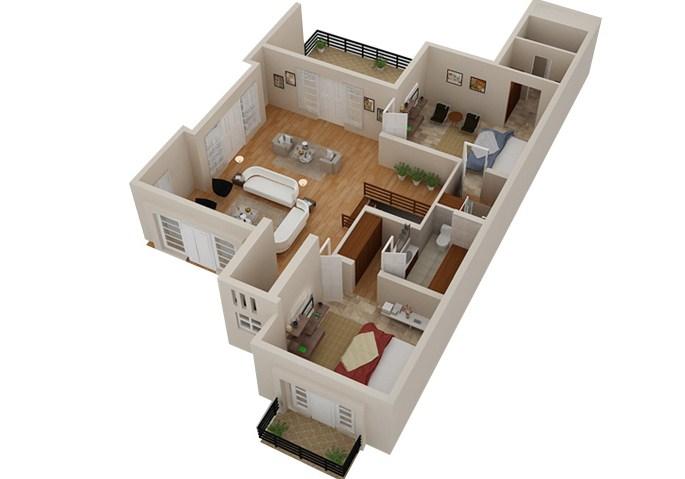Gambar Denah Rumah 3d Type 36